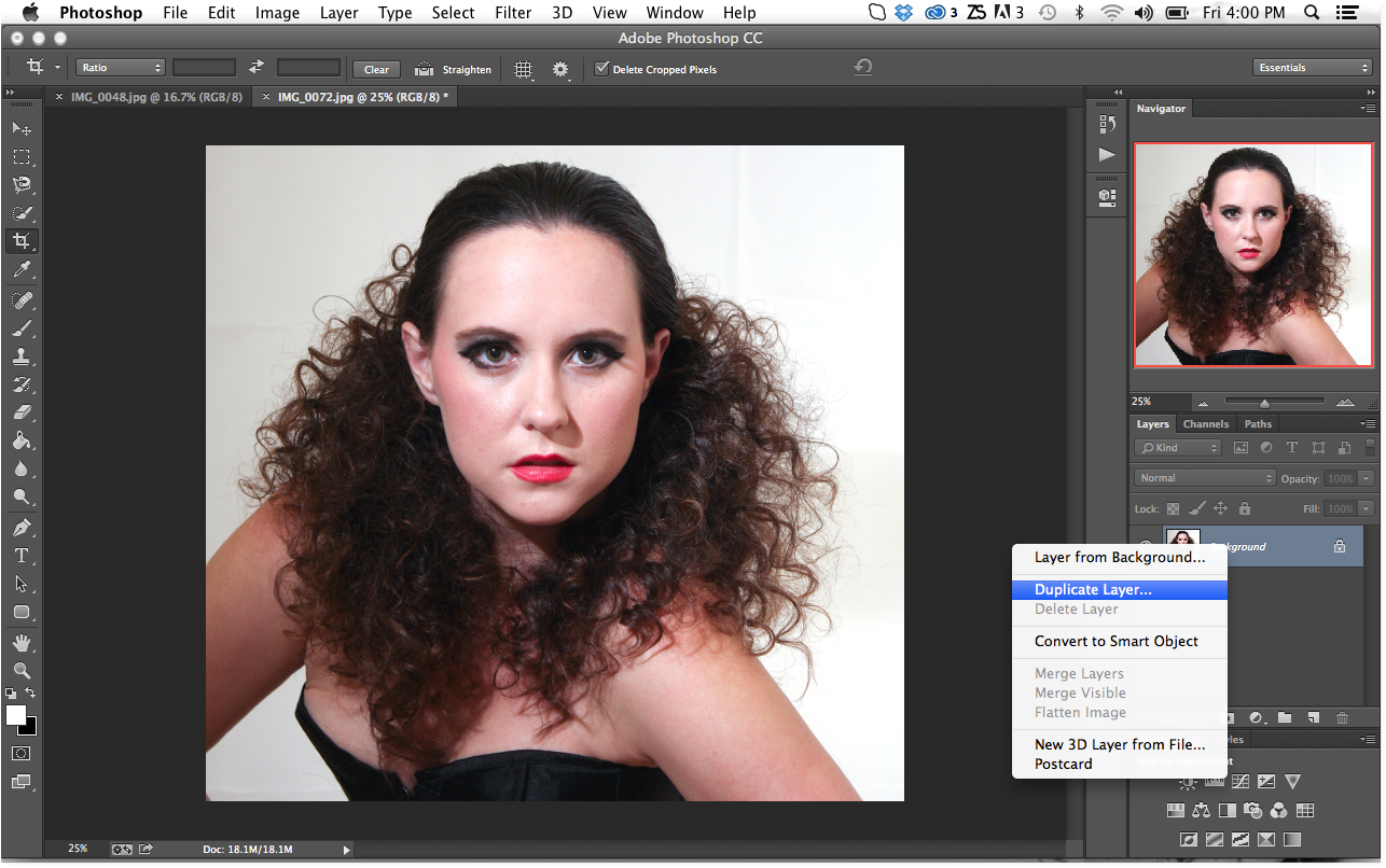 Tutorial how to smooth skin in photoshop phowd duplicate layer in photoshop baditri Choice Image