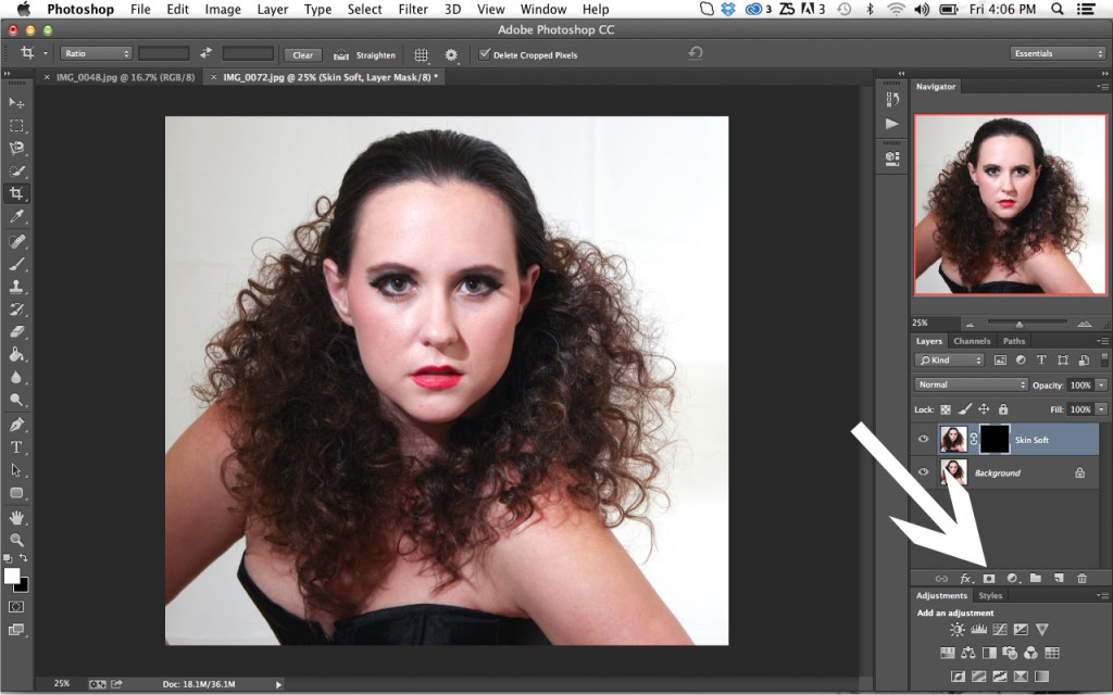 Add Layer Mask On Portrait Retouching