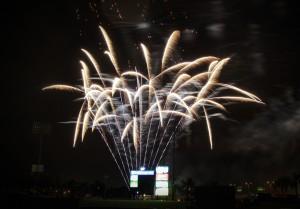Taking photos of fireworks