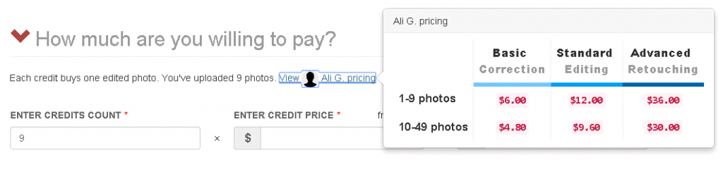Phowd Private Order Pricing