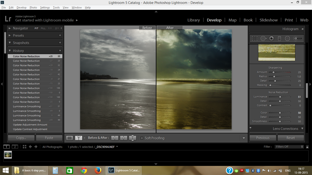 Editing Photo using Adobe Lightroom 5