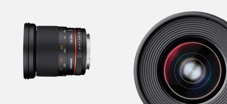 Samyang 20mm f/1.8 Manual Focusing Lens Officially Announced