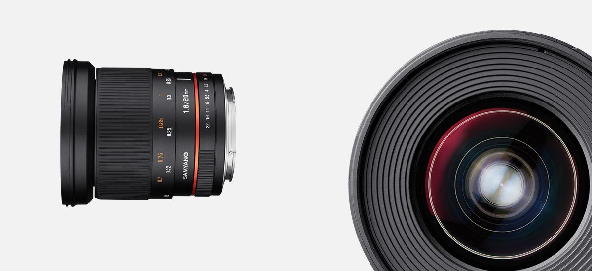 Samyang 20mm f/1.8 Manual Focusing Lens Officially Announced