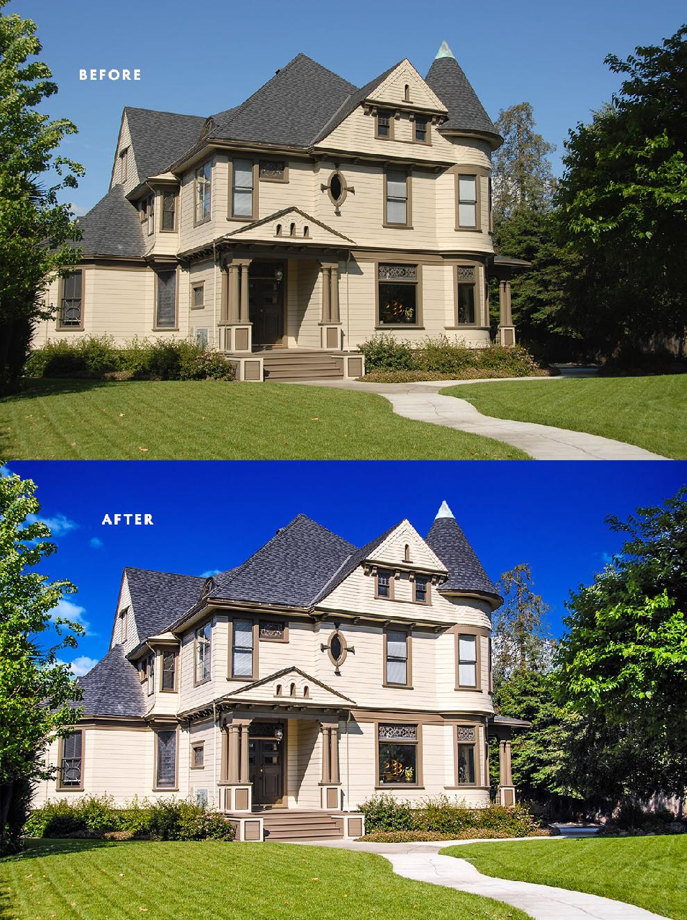 Real Estate Photo Before and After